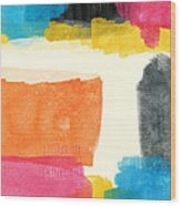 Spring Forward- Colorful Abstract Painting Wood Print