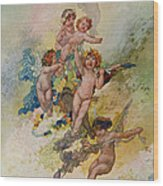 Spring From The Seasons Commissioned For The 1920 Pears Annual Wood Print