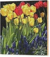 Spring Garden Sunshine Square Wood Print