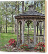 Spring Gazebo Pastel Effect Wood Print