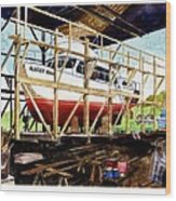 Yacht Glacier Bear Hauled Out In Gig Harbor Wood Print