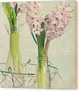 Spring Hyacinths Wood Print