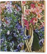 Spring In A Basket Wood Print