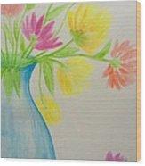 Spring In A Vase Wood Print