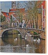 Spring In Bruges Wood Print