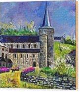 Spring In Celles  Wood Print