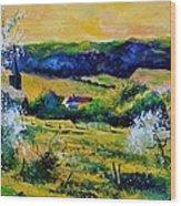 Spring In Matagne  Wood Print