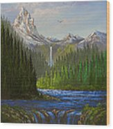 Spring In The Rockies Wood Print by C Steele