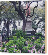 Spring In The Square Wood Print