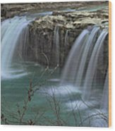 Spring King River Arkansas Wood Print by Cindy Rubin