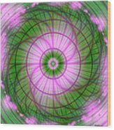 Spring Mandala For Winter Day Wood Print