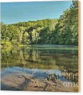 Spring Mill Lake Wood Print
