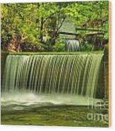 Spring Mill Spillway Wood Print