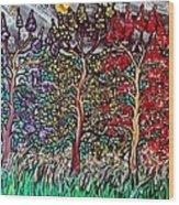 Spring Night Wood Print by Matthew  James