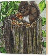 Spring Nuts Wood Print