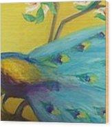 Spring Peacock Wood Print