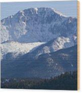 Spring Peak Wood Print
