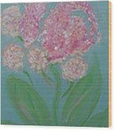 Spring Pink Flowers 1 Wood Print