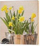 Spring Planting Wood Print by Amanda Elwell