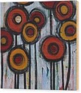Spring Poppies II Wood Print