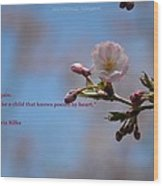 Spring Quote Wood Print
