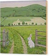 Spring Rabbit Wood Print