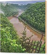 Spring Rains Comes To The New River Wood Print