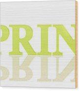 Spring Reflected Wood Print