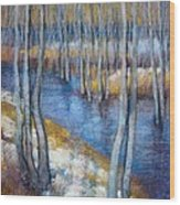 Spring River Thaw Wood Print