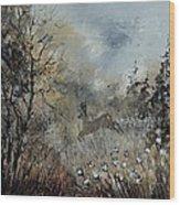 Spring Roe Deer Wood Print