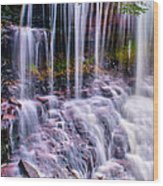 Spring Runoff At The Falls Wood Print