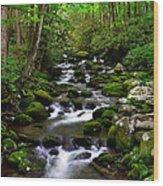 Spring Runoff Wood Print
