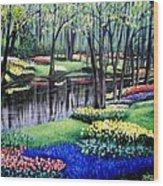 Spring Spendor Tulip Garden Wood Print