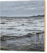 Spring Storm On Lake Champlain Wood Print