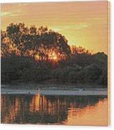 Spring Sunrise Gilbert Arizona Wood Print