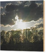 Spring Sunset Wood Print