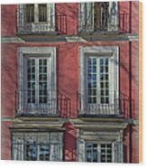 Spring Sunshine In Madrid Wood Print