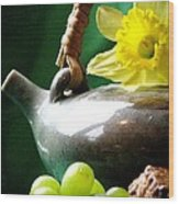 Spring Tea Wood Print