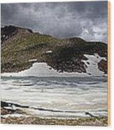 Mountain Lake Spring Thaw Wood Print