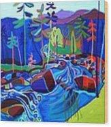 Spring Thaw Wildcat River Jackson NH Wood Print