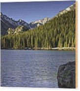 Spring Time At Bear Lake Wood Print by Tom Wilbert