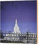 Spring Time At The Idaho Falls Temple Wood Print