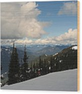 Spring Time Skiing At Crystal Wood Print