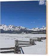 Spring View Of The Sawtooth Mountains Wood Print