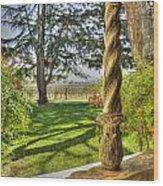 Spring Vineyards Wood Print