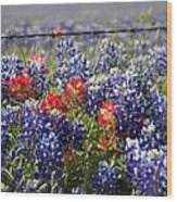 Spring Wildflowers Wood Print