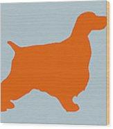 Springer Spaniel Orange Wood Print