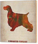 Springer Spaniel Poster Wood Print