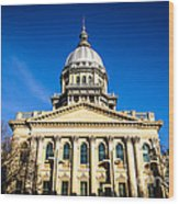 Springfield Illinois State Capitol Building Wood Print by Paul Velgos