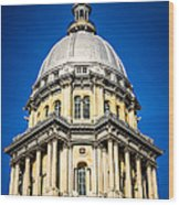 Springfield Illinois State Capitol Dome Wood Print